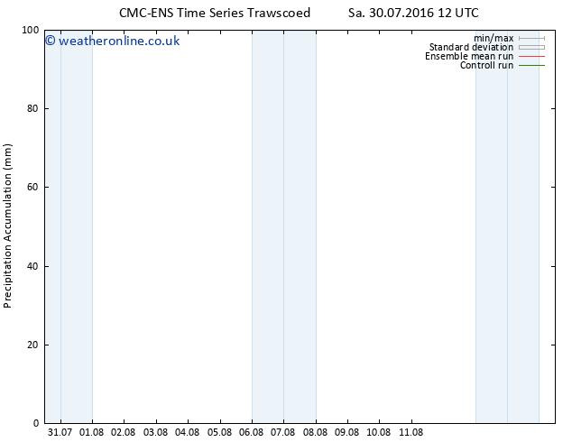 Precipitation accum. CMC TS Sa 06.08.2016 12 GMT