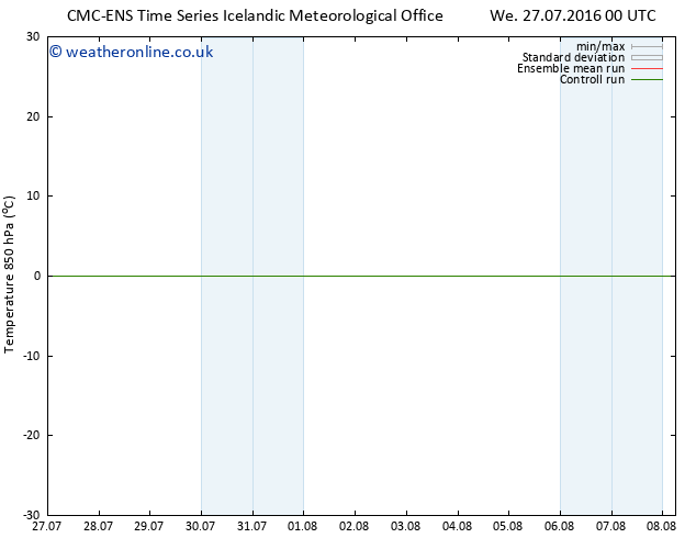 Temp. 850 hPa CMC TS Th 28.07.2016 12 GMT